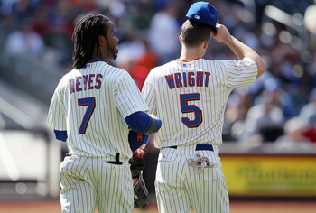 Jose Reyes and David Wright anchored the left side of the infield.