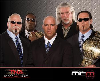 Main Event Mafia...or money hungry and past their prime (with the exception of Angle)