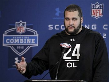 Matt Kalil at the 2012 NFL Combine.