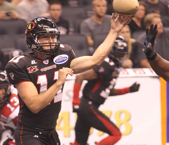 QB Nick Hill while playing for the Orlando Predators