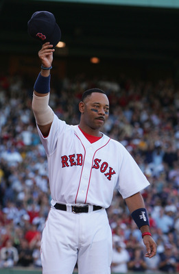 "Burks won his first World Series in 2004, a ""farewell tour"" with the Red Sox"