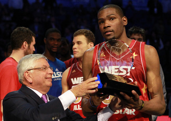 Kevin Durant winning MVP of the 2012 All-Star Game