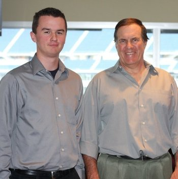 Bill Belichick and I in 2009