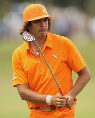 You can never miss Rickie Fowler on the golf course