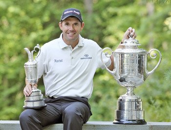 In 2008 Padraig Harrington won the Claret Jug and the Wanamaker Trophy