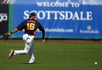 Angel Pagan and the dance of the uncaught baseball.