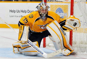 Pekka Rinne is a candidate for this year's Vezina Trophy.