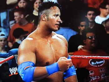The Rock in his debut