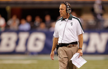 Coach Mark Dantonio during the Wisconsin vs. Michigan State Big Ten Championship