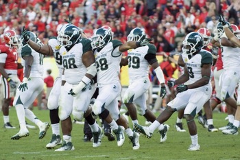 Michigan State wins the Outback Bowl against the Georgia Bulldogs