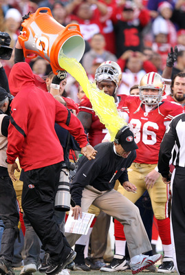 Harbaugh better get used to Gatorade showers