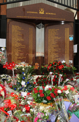 Hillsborough Disaster Memorial outside Anfield Gates