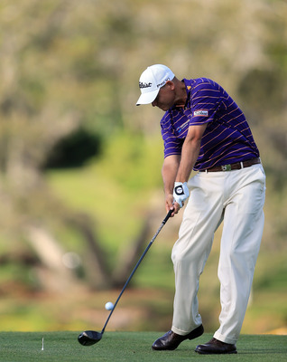 ORLANDO, FL - MARCH 22:  Bill Haas of the USA plays his tee shot at the par 5, 16th hole during the first round of the 2012 Arnold Palmer Invitational presented by MasterCard at Bay Hill Club and Lodge on March 22, 2012 in Orlando, Florida.  (Photo by Dav