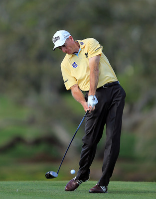 ORLANDO, FL - MARCH 22:  Jim Furyk of the USA plays his tee shot at the par 5, 16th hole during the first round of the 2012 Arnold Palmer Invitational presented by MasterCard at Bay Hill Club and Lodge on March 22, 2012 in Orlando, Florida.  (Photo by Dav