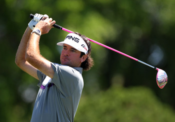 ORLANDO, FL - MARCH 25:  Bubba Watson plays a shot on the 4th hole during the final round of the Arnold Palmer Invitational presented by MasterCard at the Bay Hill Club and Lodge on March 25, 2012 in Orlando, Florida.  (Photo by Sam Greenwood/Getty Images