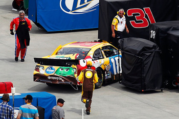 Kyle Busch found the wall early at Martinsville