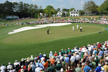 The green complex at Augusta National's 9th Hole