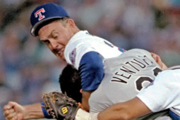 Nolan Ryan displayed his fiery nature during this 1991 brawl with Robin Ventura. Photo is credited to SBNation.com
