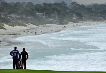 2012 Pebble Beach Pro-Am Champion Phil Mickelson admires the California views.
