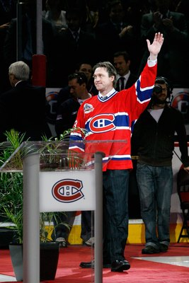 The Montreal Canadiens honored Roy by retiring his number 33 on Nov. 22, 2008.