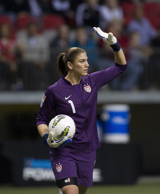 Goalie Hope Solo and the U.S. women's soccer team are gunning for gold.