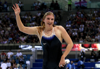 Rebecca Adlington (above) is a British swimming star.