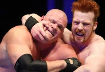 Sheamus takes control of Kane.
