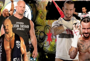 Stone Cold Steve Austin and CM Punk