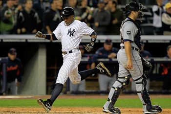 Curtis Granderson crossed home plate more than anyone else in 2011