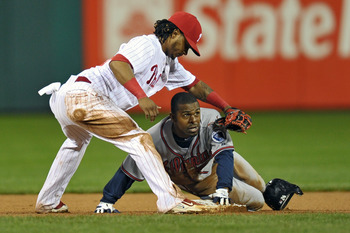 Michael Bourn has led the NL in stolen bases three years in a row, and led all of baseball in steals in 2011
