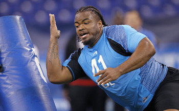 Dontari Poe at the 2012 NFL Combine