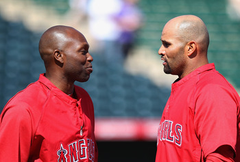 Torii Hunter and Albert Pujols