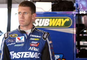 Carl Edwards is known for being consistent, but not in 2012