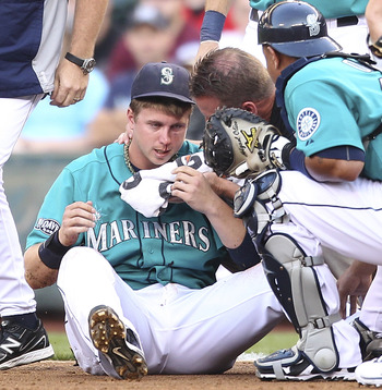 Justin Smoak struggled with injuries in 2012.