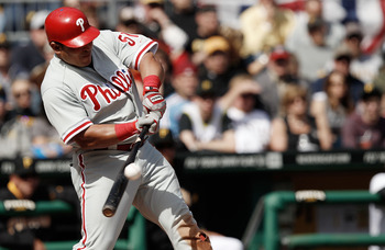 Chooch puts wood on the bat, driving home the only run of the day with a sacrifice fly.