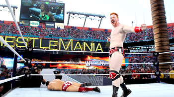 Sheamus defeats Daniel Bryan in a matter of seconds.