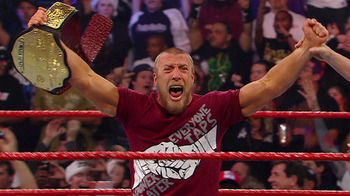 Daniel Bryan wins the World Heavyweight Championship at WWE TLC.