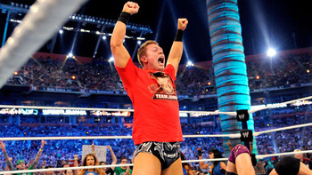 The Miz picks up the victory for his team at WrestleMania.