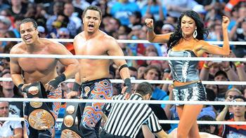 Primo and Epico retain their WWE Tag Team Championships at WrestleMania 28.