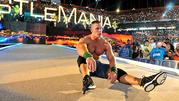 John Cena loses his match against The Rock.