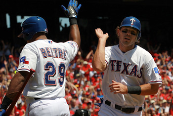 Kinsler cranked the Rangers first long ball of 2012
