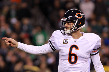 Jay Cutler's injury derailed the Bears 2011 playoff hopes.
