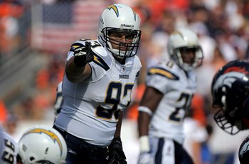In 2006, Luis Castillo put out seven sacks as a DE.  What's impressive is that he did it as a 3-4 DE.