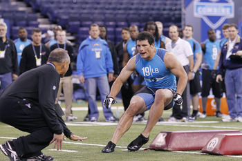 Luke Kuechly is the top inside linebacker in the draft.