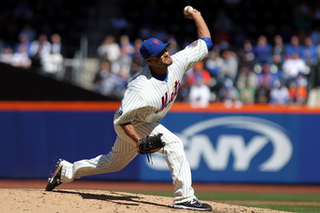 In his first game back from surgery Johan Santana had his way with the Braves.