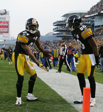 Ben needs to help Antonio Brown (84) and Emmanuel Sanders (88) develop into elite receivers.