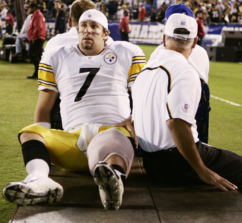 Roethlisberger has had his fair share of injuries in his career.