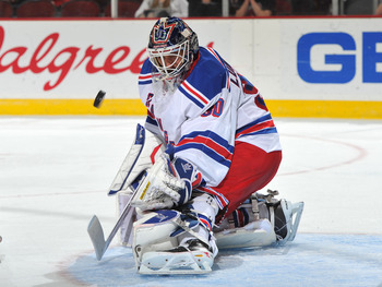 """King"" Henrik Lundqvist is a favorite amongst Ranger fans and the brightest light on Broadway on game night."