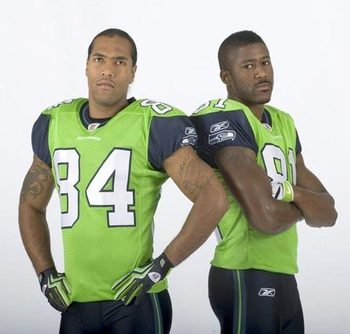 This lime green uniform version was one failed experiment. Photo courtesy of http://mickelyantz.com/HawksUnis.html