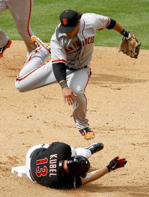 Who knew Brandon Crawford could levitate?